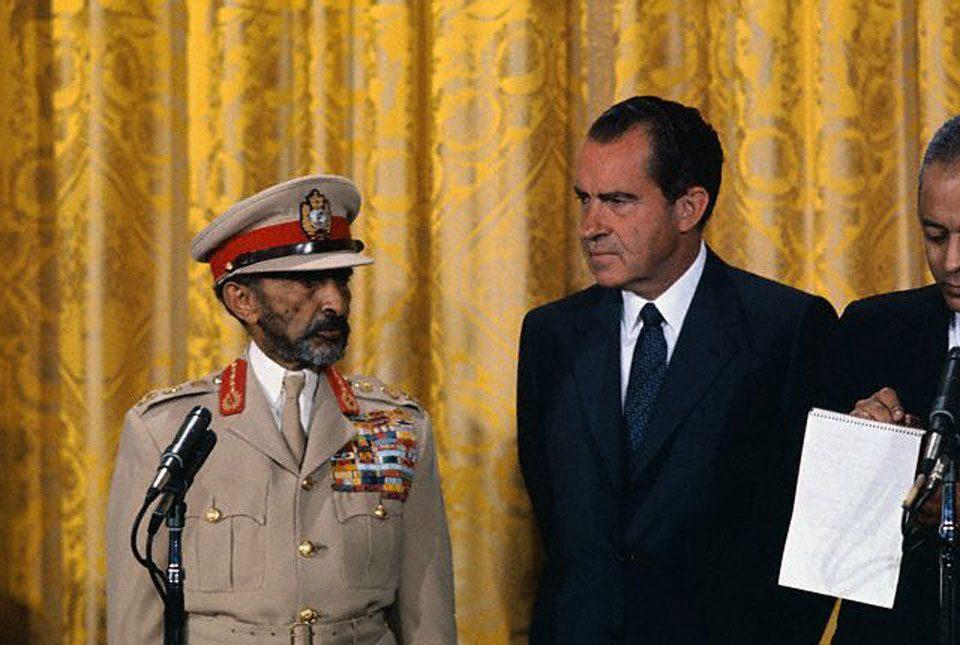 President Richard Nixon Toasts Emperor Haile Selassie I of Ethiopia.