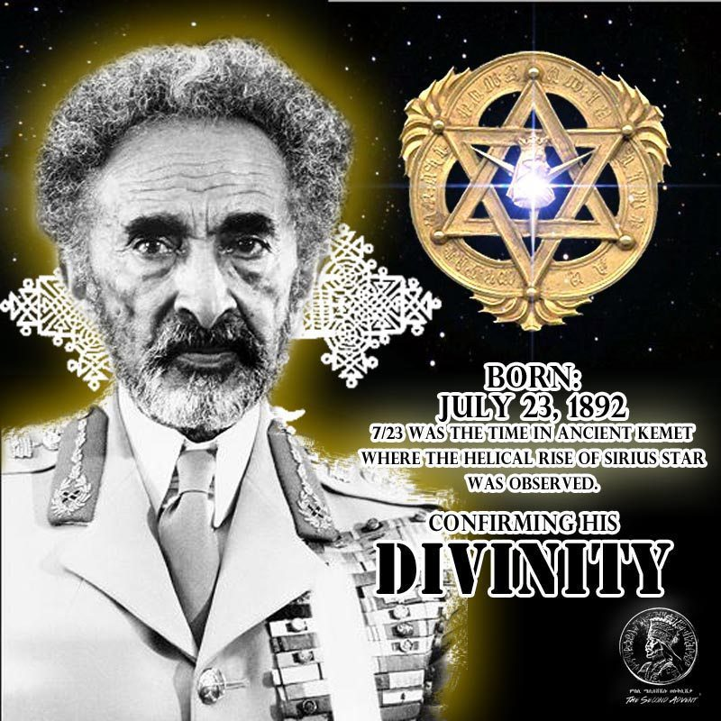 The Symbol of Haile Selassie, The Sirius Star and The Rise of The