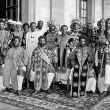 Abyssinia / Ethiopia - Haile Selassie With Warriors (1930-1939)