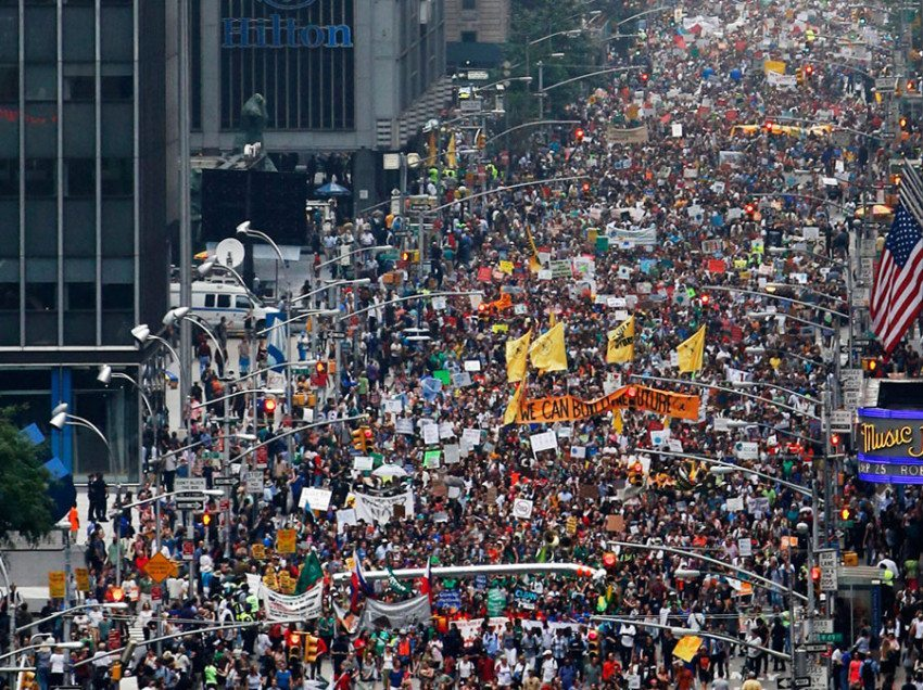 Avaazers DID IT!  Amazing Slideshow of Largest Climate Change March In World History!