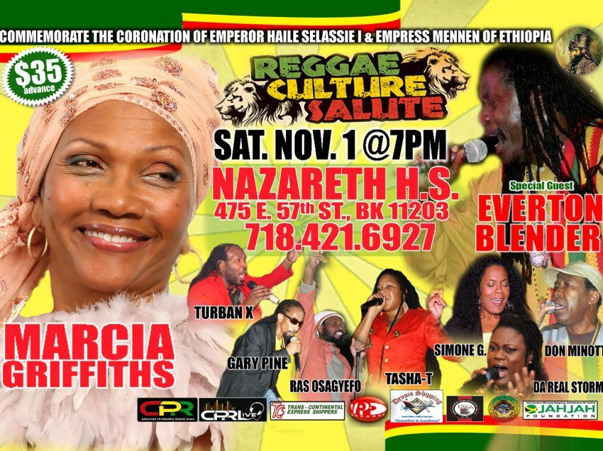 Marcia Griffiths to receive 2014 Pinnacle Award for Excellence at 10th Annual Reggae Culture Salute for 50 years of Music