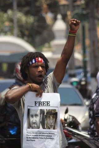 Free West Papua!  More protests held for imprisoned French journalists in West Papua