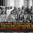 Imperial and Traditional Ranks and Titles Recognized by the Crown Council of Ethiopia