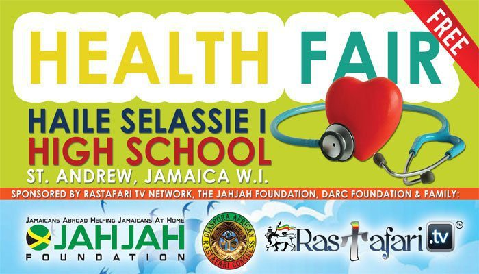 RasTafari TV Sponsors Free Health Fair at Haile Selassie High School, JA – Jan 18, 2016