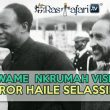 Dr. Kwame Nkrumah Visits Emperor Haile Selassie I