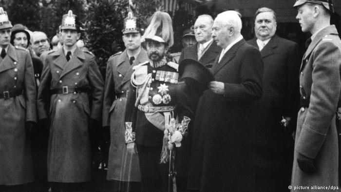 Ethiopia's Emperor Haile Selassie in Bonn, Germany