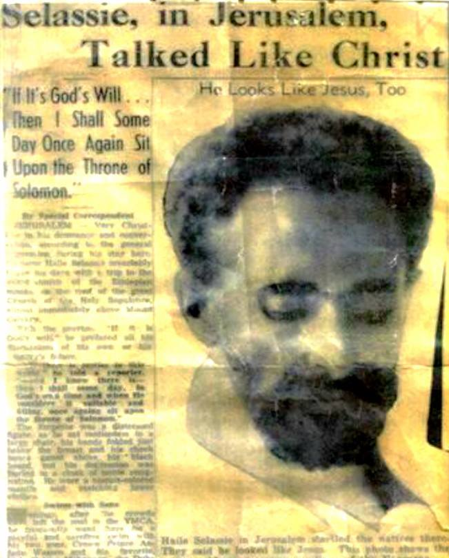 "Quick Fact: Haile Selassie in Jerusalem Newspaper, ""He talked like Christ"""