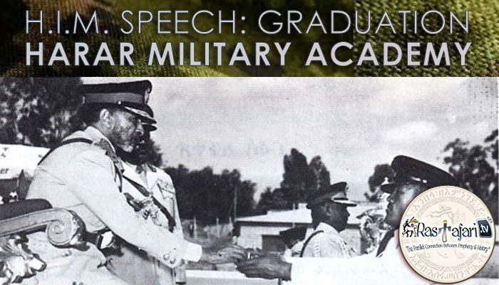 1964, Oct. 23: Haile Selassie Speech + Pics: Graduation, Harar Military Academy