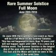 Rare Summer Solstice Full Moon June 20, 2016