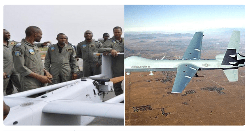 The Nigerian Air Force Engineering Officers who designed & manufactured a drone