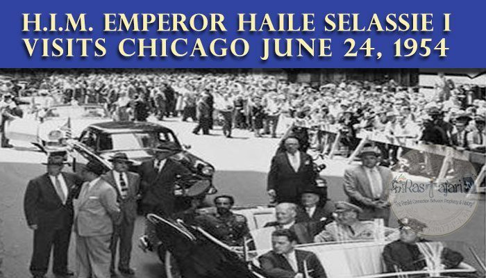 Emperor Haile Selassie I visits Chicago Baptist Church & Praises the Negroe Struggle in America