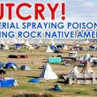 Outcry! USA aerial spraying poison over Standing Rock, AK Native Americans