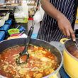 London Street Food. Stews and Fried Dumplings from Ethiopia and Eritrea. Greenwich Market