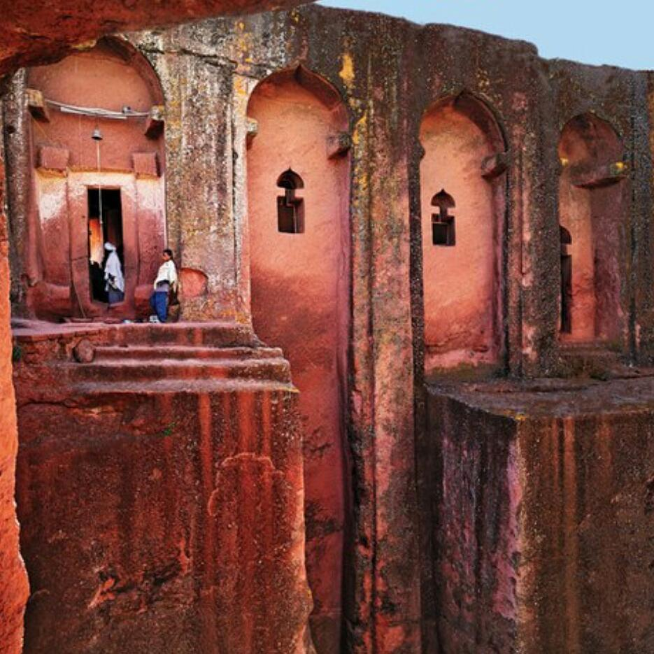 Quick Facts: Bet Gabriel Rufael one of the 11 monolithic rock-cut churches in Lalibela